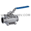 Three-Piece Sanitary T-Clamp Ball Valve With ISO52