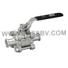 Bild 3PCS Sanitary T-Clamp Ball Valve